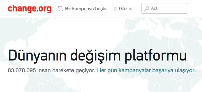 change.org anasayfa