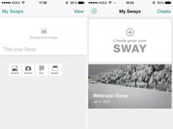 sway for iphone uygulamasi
