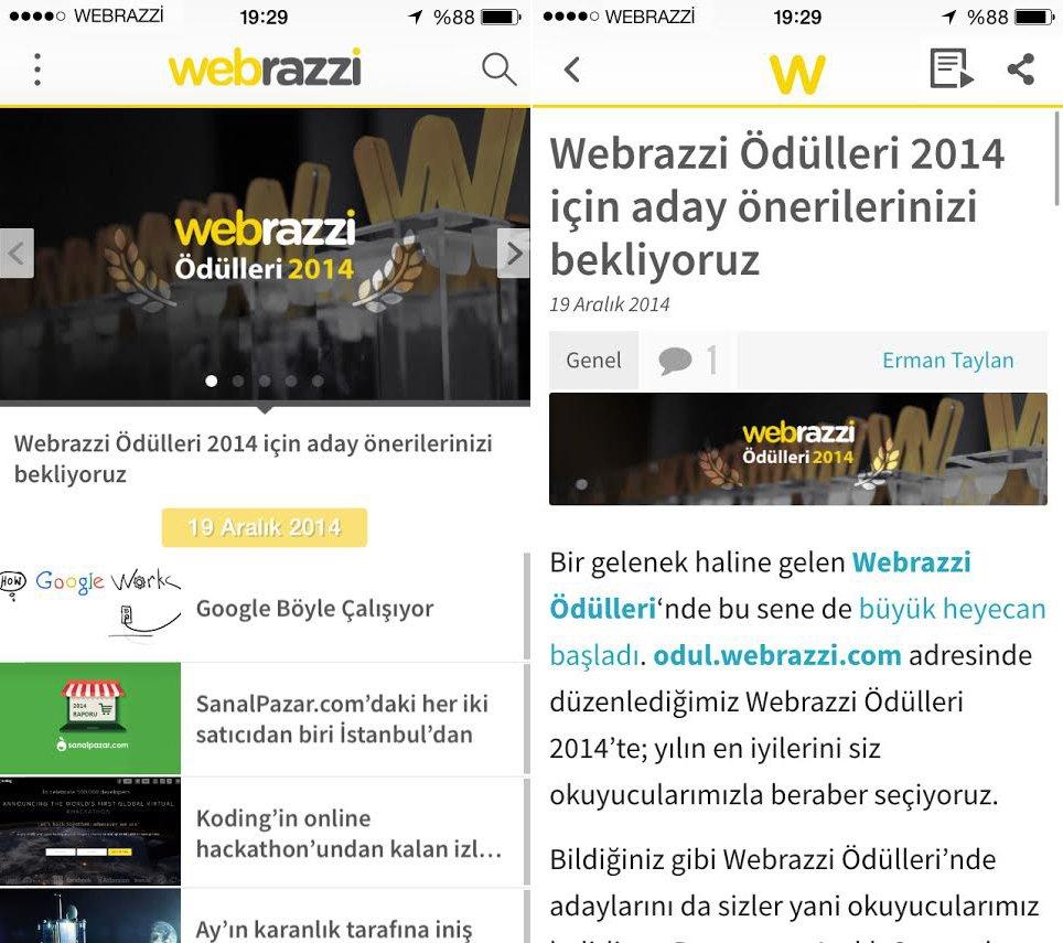 webrazzi-iphone-uygulamasi