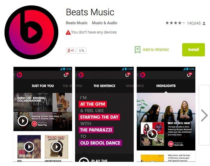 beats google play