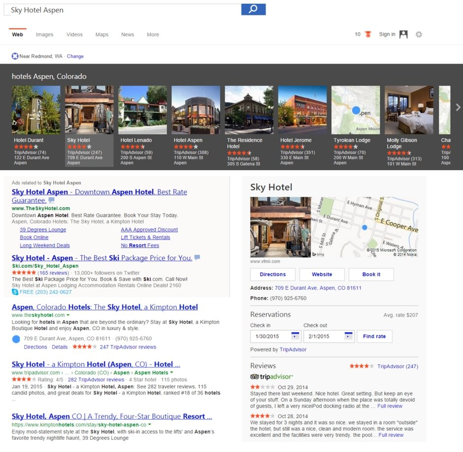 bing arama sonuclari otel bilgileri rezervasyon