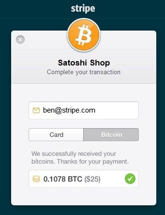 bitcoin odeme stripe
