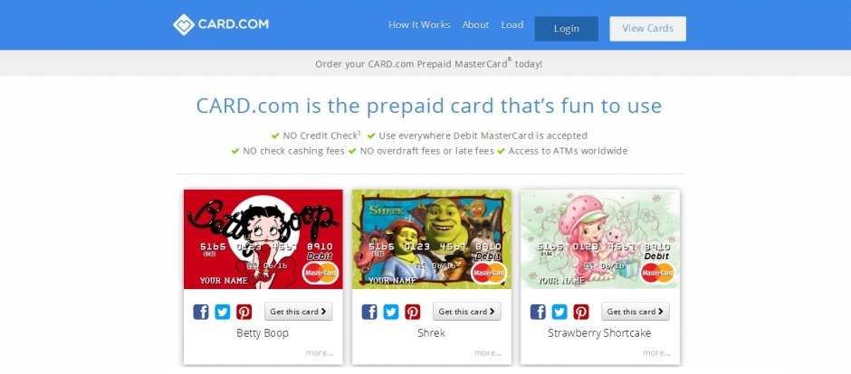 card.com on odemeli prepaid kart