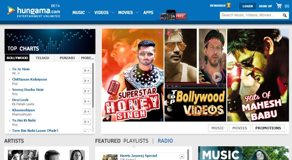 Hungama Hindistan muzik dinleme servisi