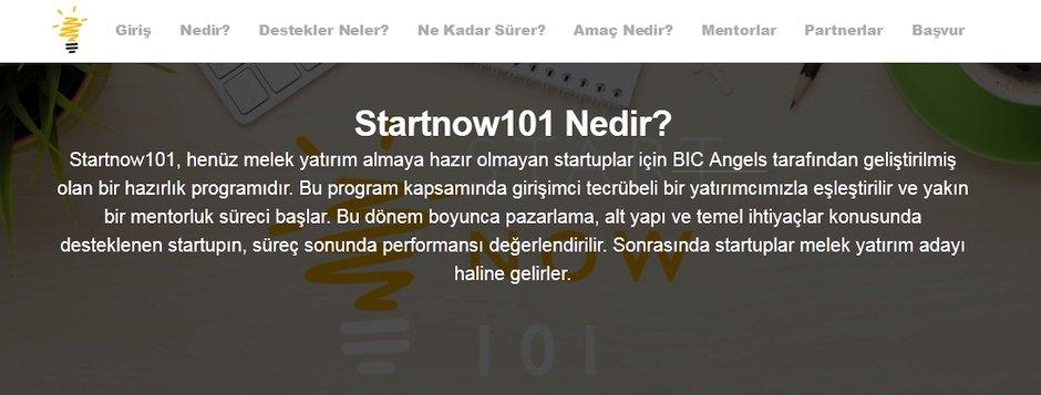 startnow101 girisim destek programi