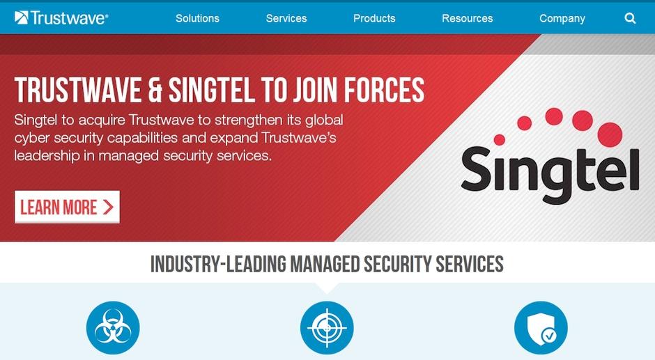 Singtel siber guvenlik yazilimlari Trustwave