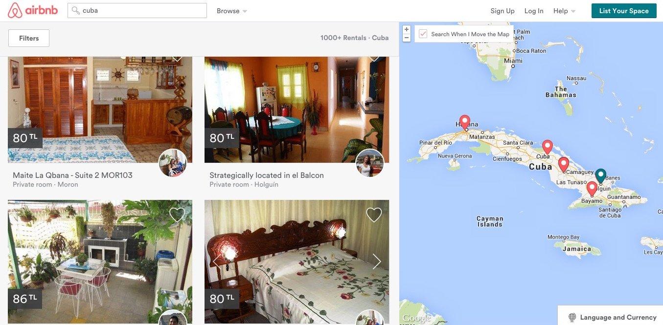 airbnb küba