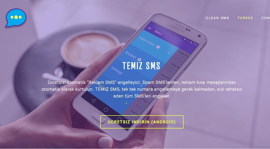 Clean SMS Temiz SMS Istenmeyen kisa mesaj engelleme