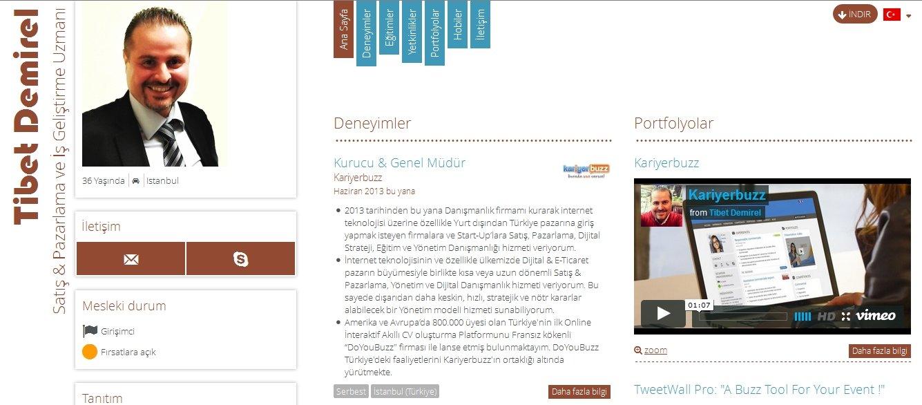 Tibet Demirel Kariyerbuzz Ozgecmis CV