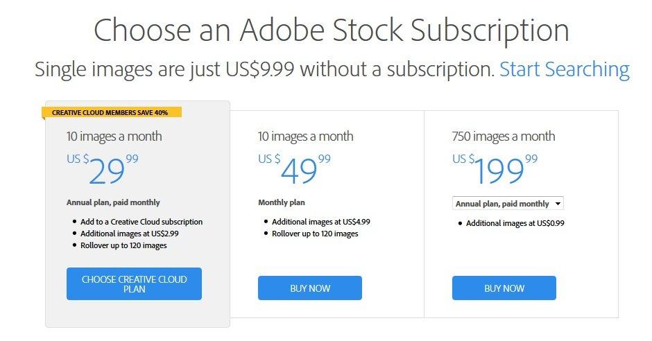 Adobe Stock Stok abonelik