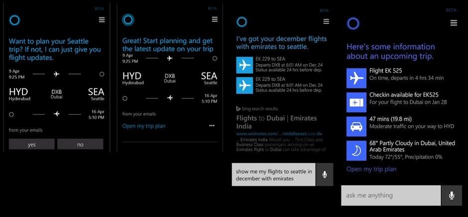 Cortana Akilli asistan Microsoft