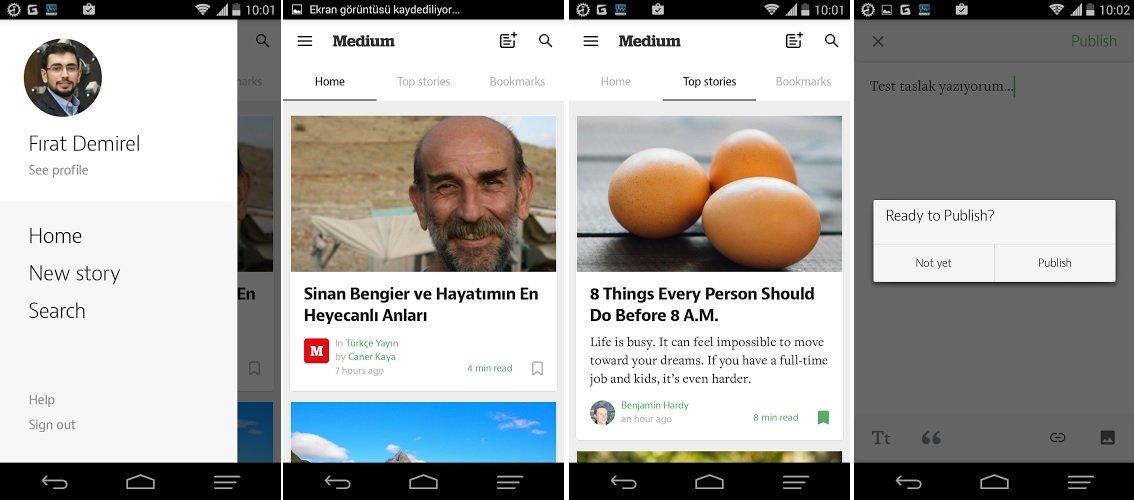 Medium Android uygulamasi indir