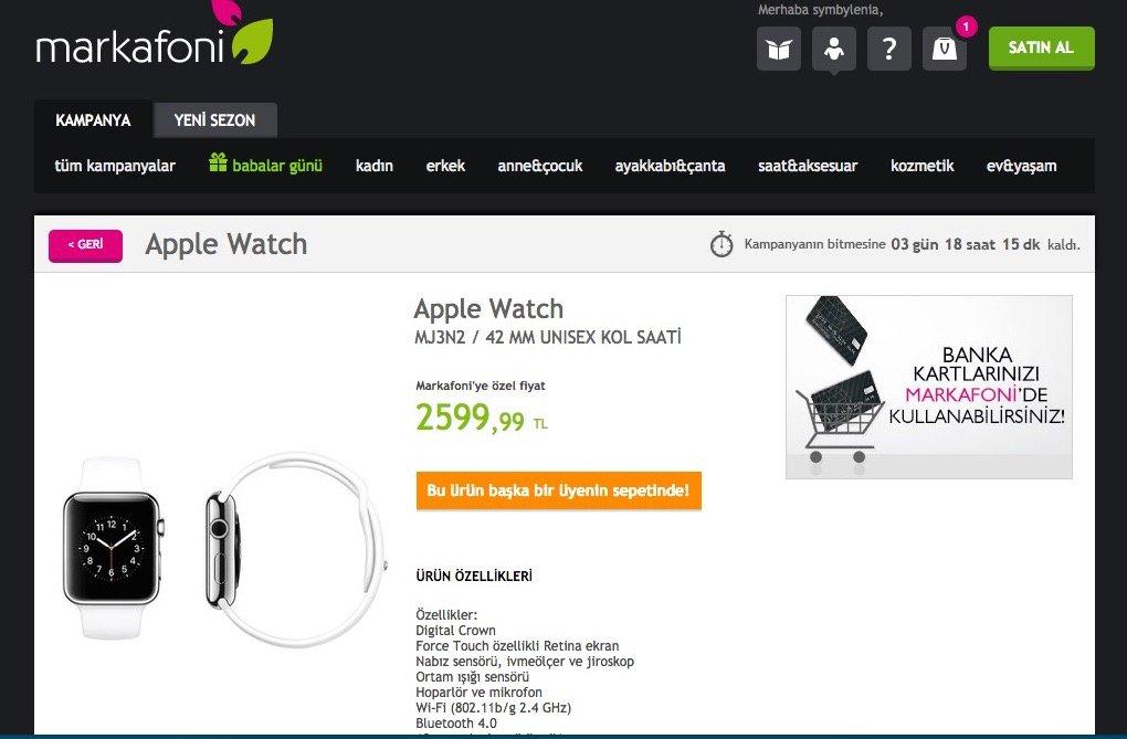 markafoni apple watch