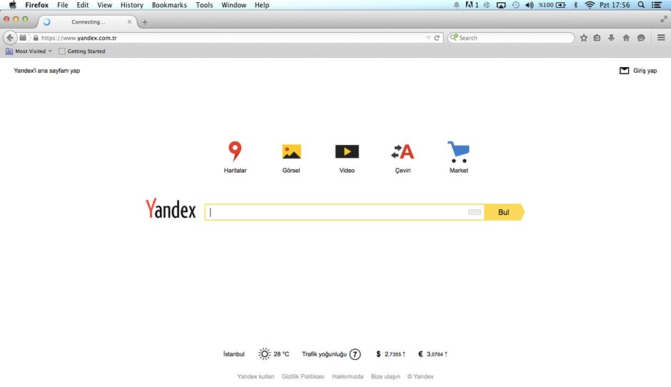 Yandex Çeviri, Firefox 41'den itibaren alternatif olarak kullanıcıya sunulacak