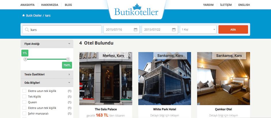Butik Oteller Rezervasyonu