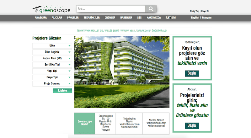 Greenoscope verimli binalar cleantech
