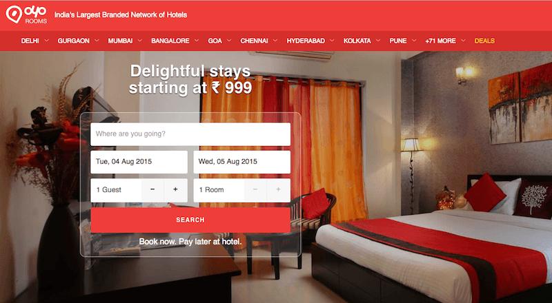 Hindistan otel rezervasyon OYO Rooms