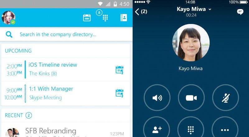 Skype for Business Android iOS uygulamalari