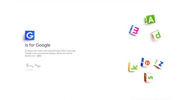 Dönüşüm tamamlandı, Google resmen Alphabet oldu