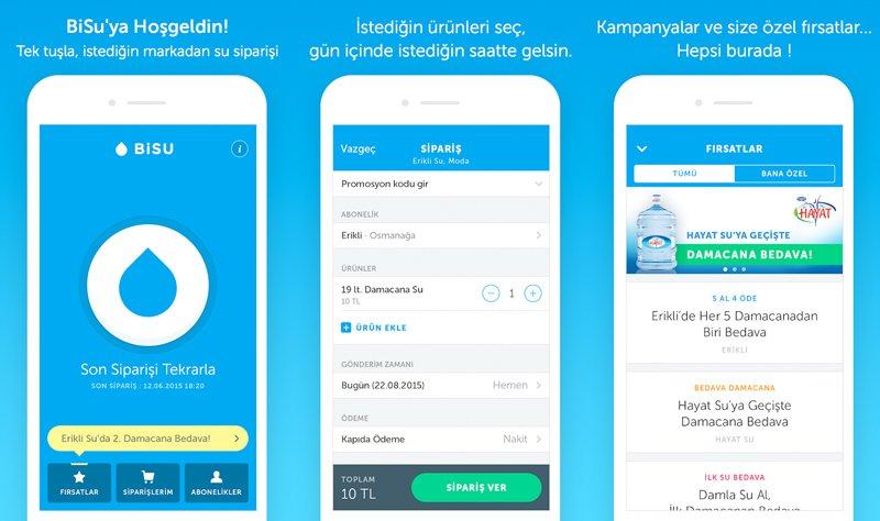BiSU: Damacana su siparişi işini çözen mobil uygulama - Webrazzi