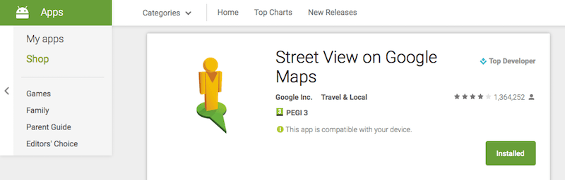 Google Street View Sokak Gorunumu