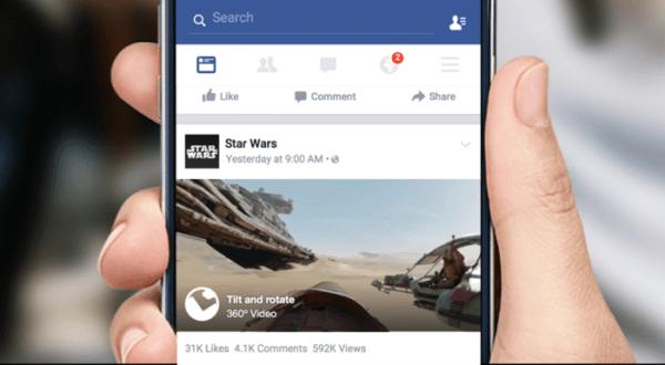 Facebook'a 360 derece videolar geliyor