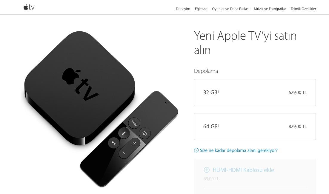 Apple TV Fiyat