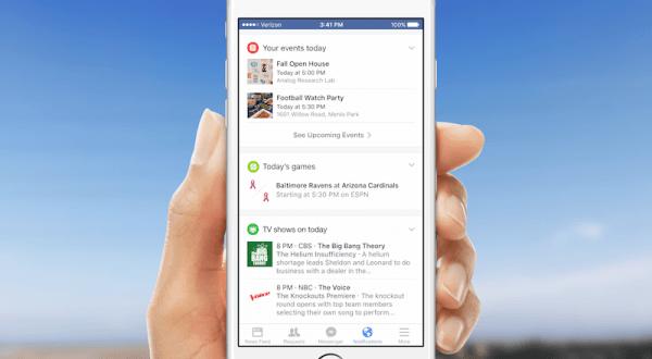 Facebook bildirimleri mobilde kişisel asistan gibi çalışmaya başlıyor