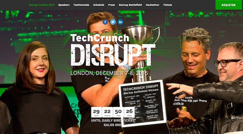 Techcrunch Disrupt London 2015