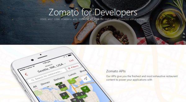 Zomato, restoran içeriğini Zomato API ile yazılım geliştiricilerin kullanımına açtı