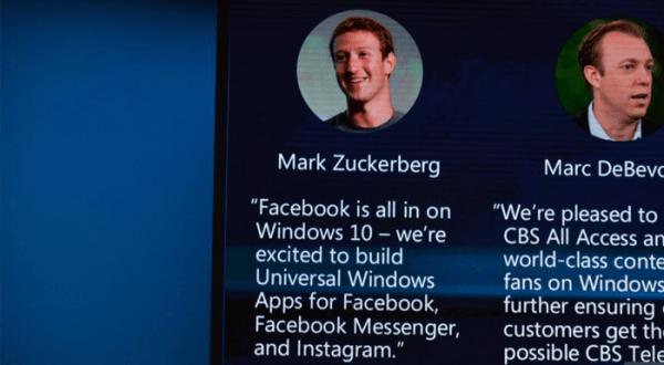 Facebook, Windows 10 için Messenger ve Instagram uygulaması geliştiriyor