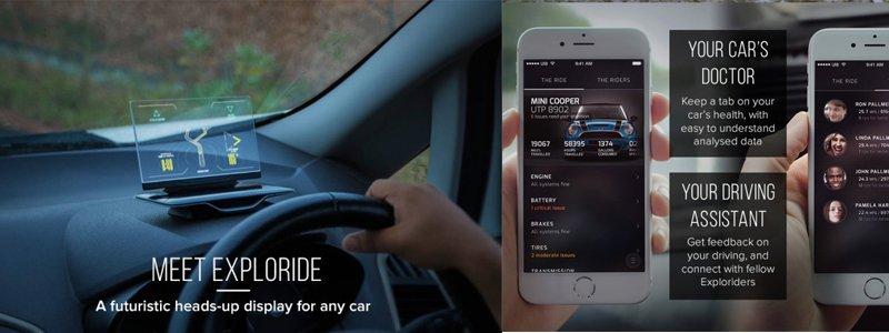 Exploride-heads-up-car-display