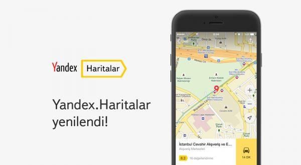 Yenilenen Yandex.Haritalar uygulamalarında artık Bitaksi butonu var