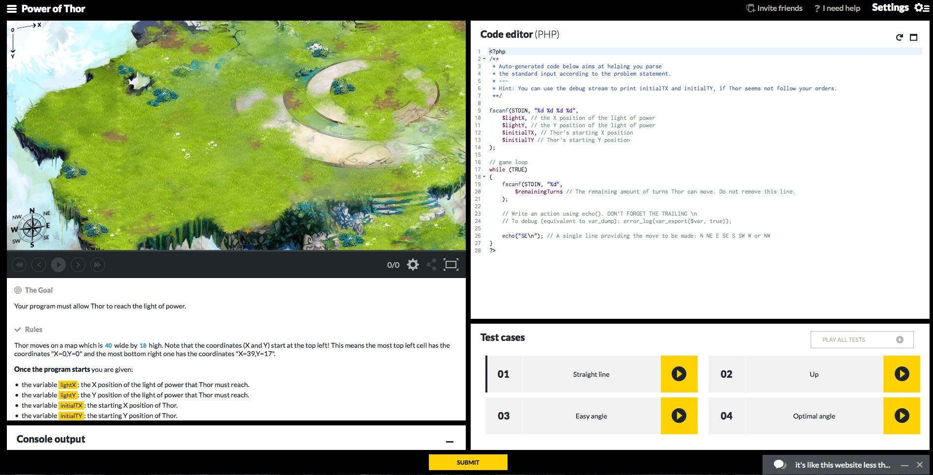 codingame-ekran-goruntusu
