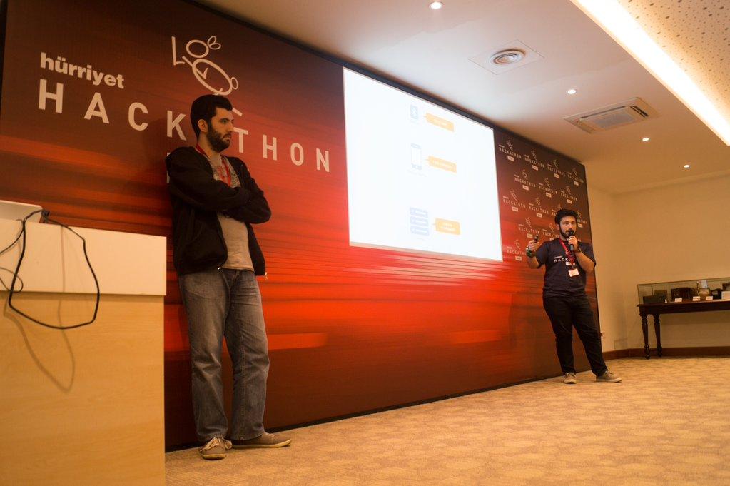 Hürriyet Emlak Hackathon'da yapılan sunumlardan bir kare