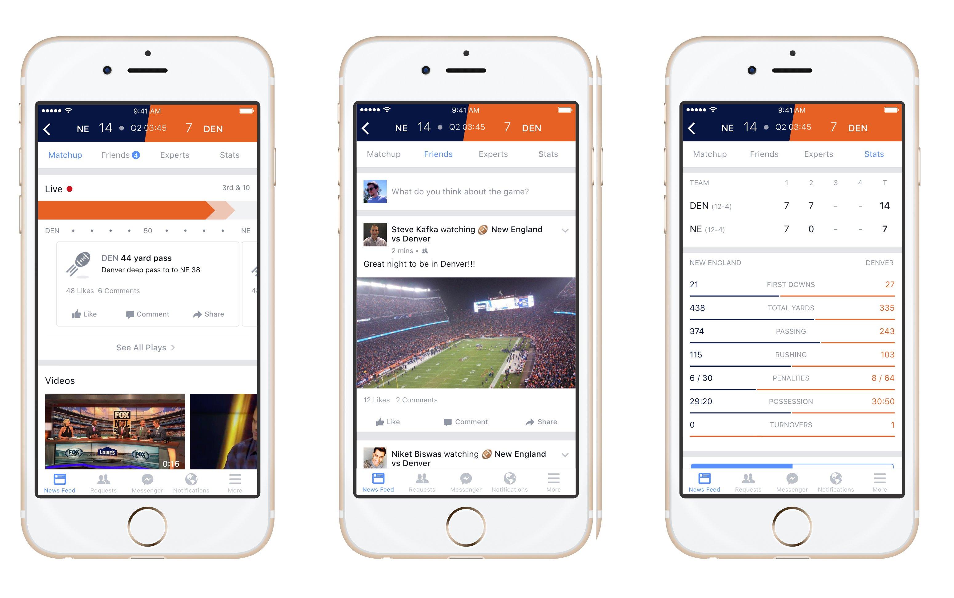 Facebook, canlı maç takibi için Sport Stadium yeniliğini tanıttı