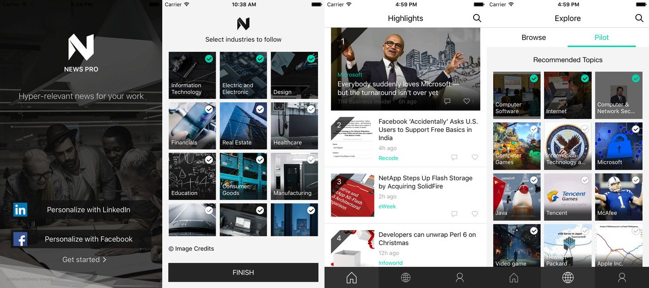 Microsoft'tan iOS platformu için yeni haber uygulaması: News Pro