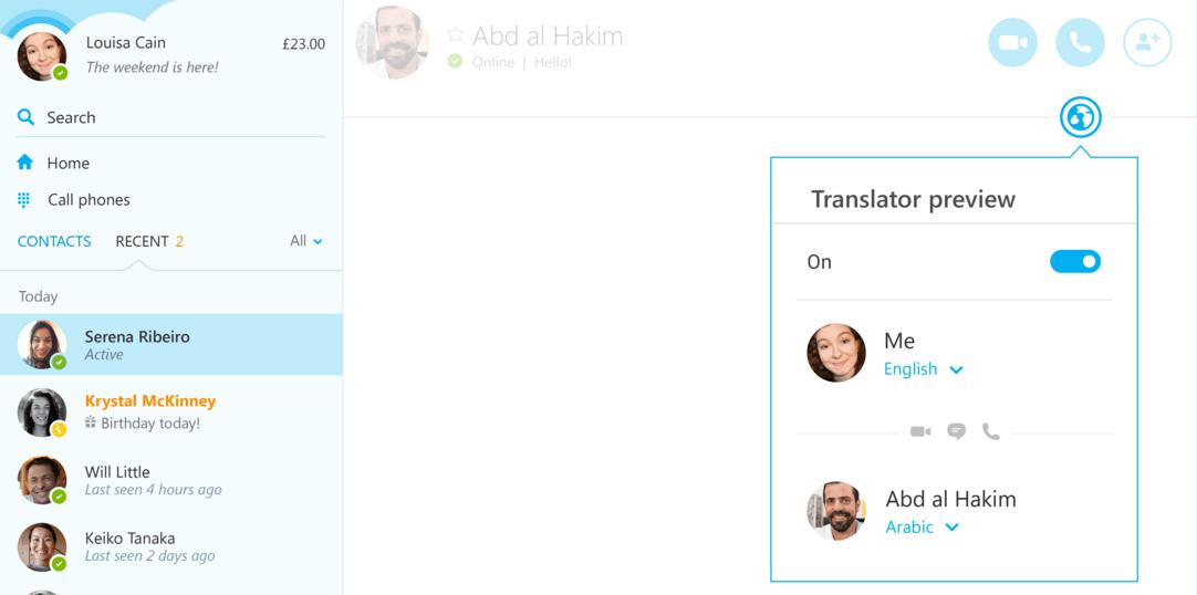 Skype Translator uygulama