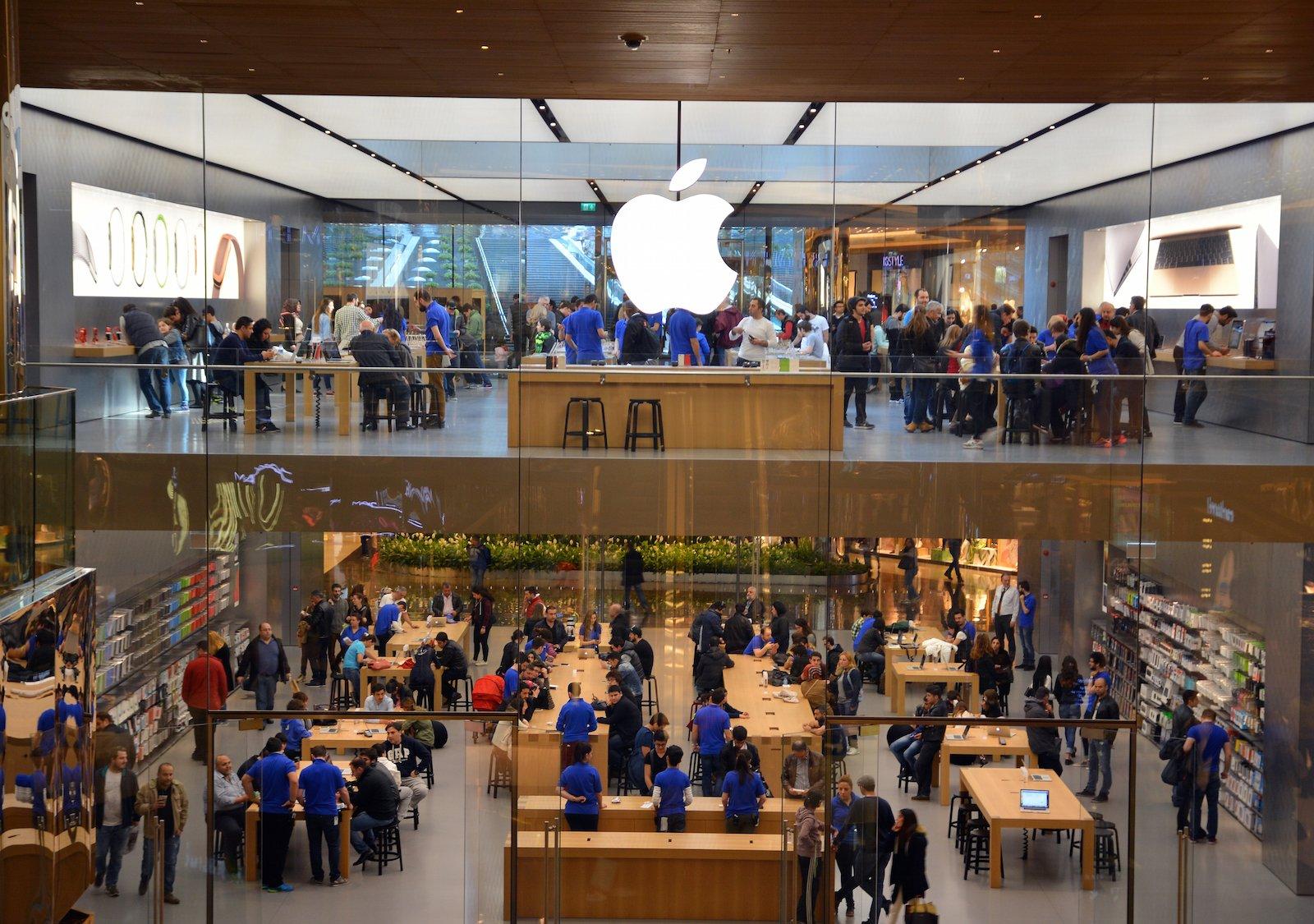 Apple Store'un İstanbul'daki ilk mağazasından bir görüntü