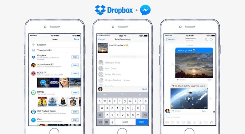 Dropbox Facebook Messenger