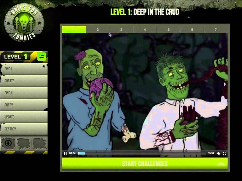 Çocuklara kod yazmayı öğreten online servis Rails for Zombies
