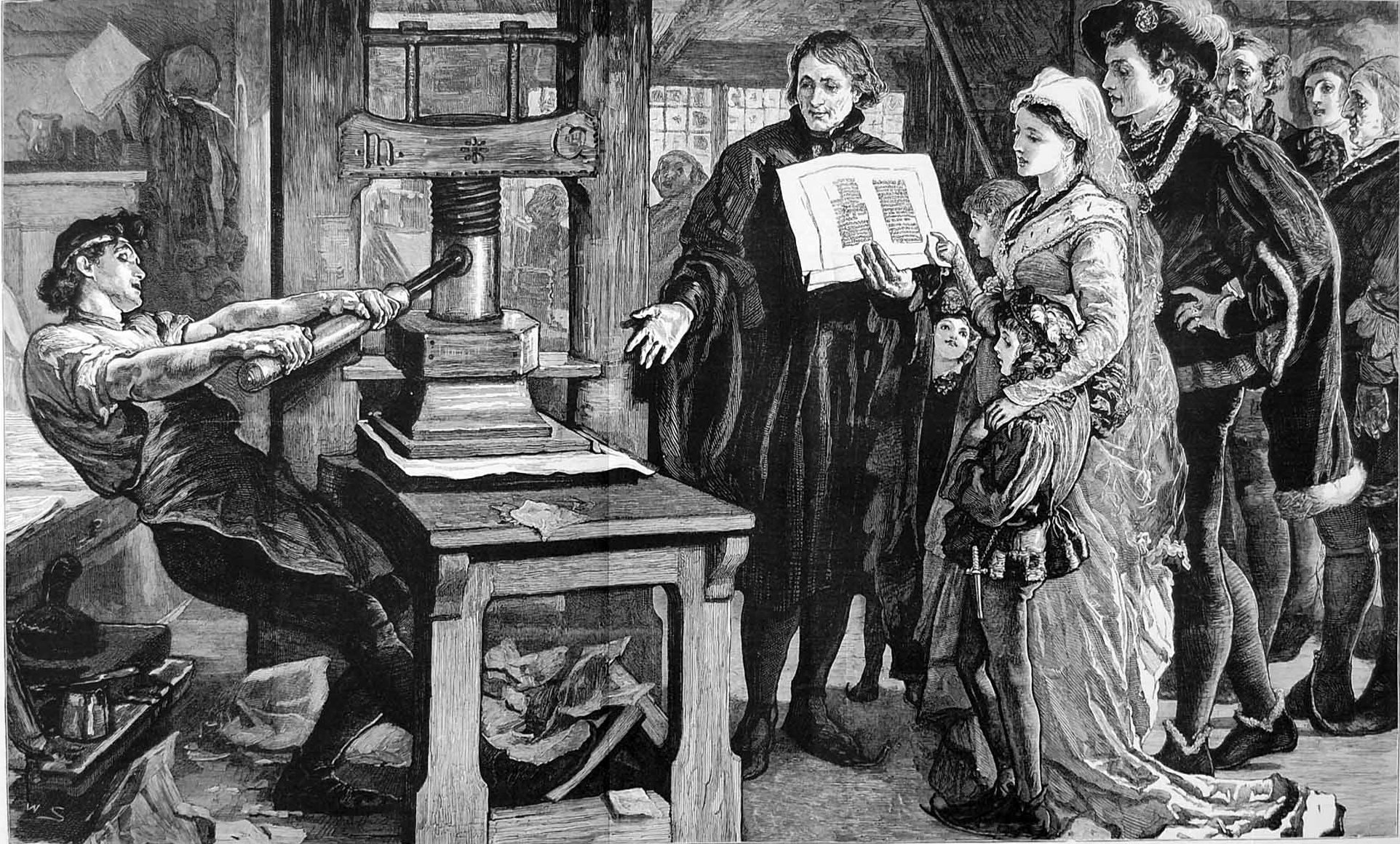 Matbaanın ilk kez kullanılması Uzakdoğu'da başlamıştır. İlk matbaa, ağaç oyma tekniği kullanarak, MS 593'te Çin'de kurulmuş, ilk basılı gazete de MS 700'de Pekin'de çıkmıştır.