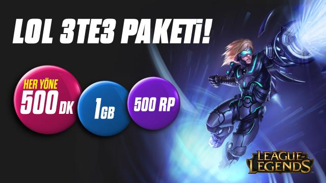 Gnctrkcll'den League of Legends'a özel 3te3 Paketi; Kaynak: http://tr.leagueoflegends.com/