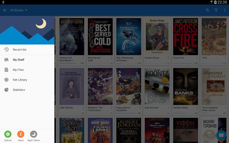 E-kitap uygulaması Moon+ Reader