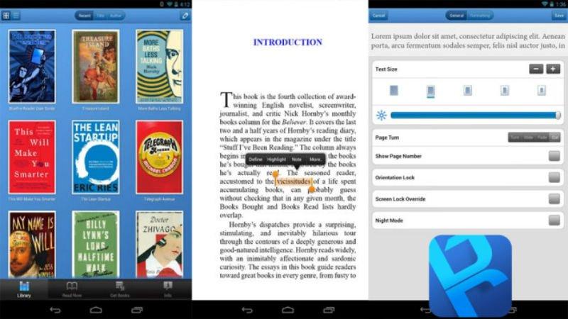 E-kitap uygulaması Bluefire