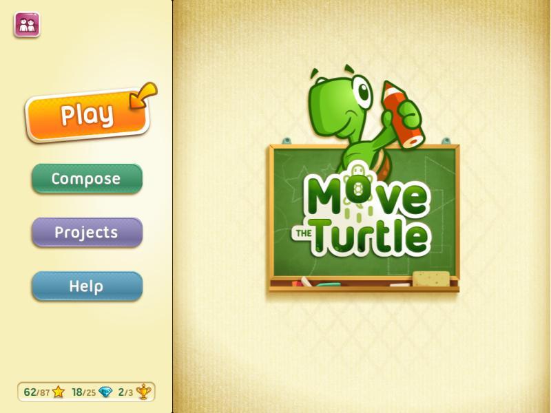Çocuklar için faydalı mobil uygulama Move The Turtle