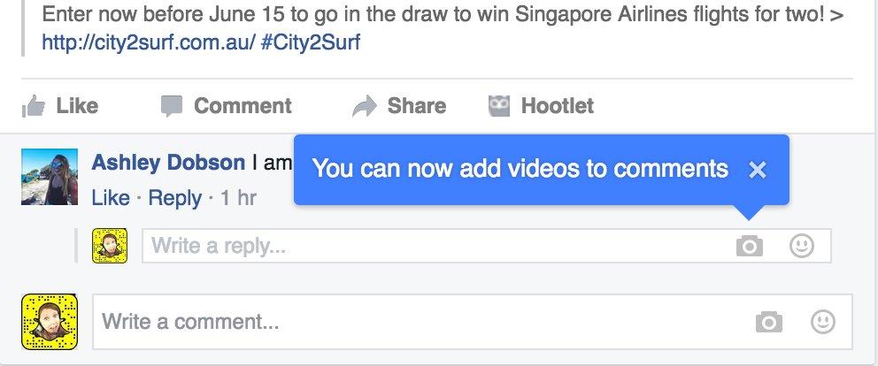 facebook video comment
