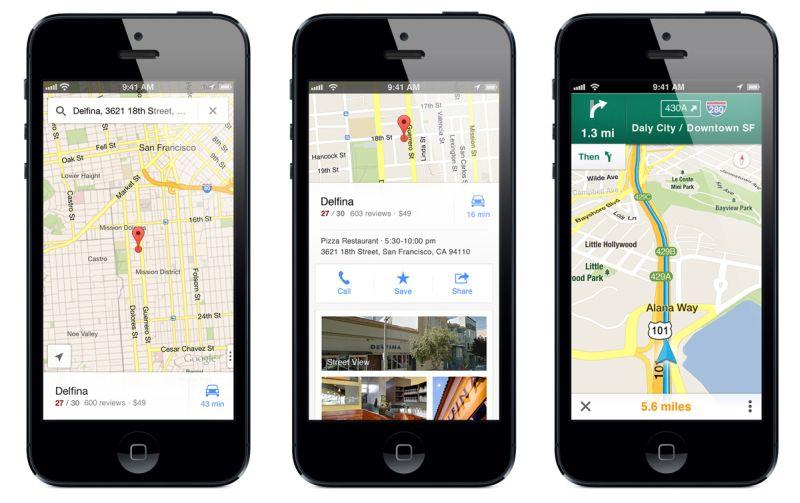 Tüm zamanların en iyi iOS uygulamalarından Google Maps