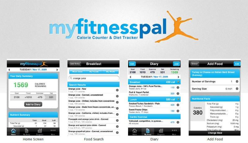 En iyi sağlık/fitness uygulamalarından MyFitnessPal
