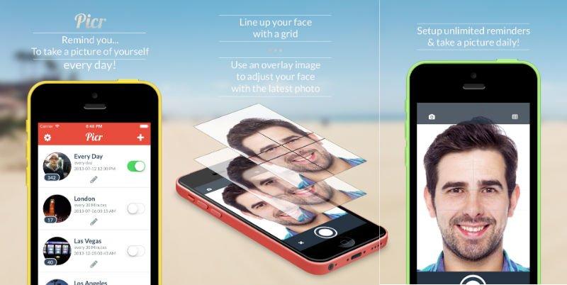 iOS için düzenli çekim yapabileceğiniz bir selfie uygulaması: Picr